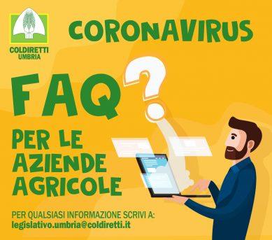 FAQ - DOMANDE E RISPOSTE PER AZIENDE AGRICOLE